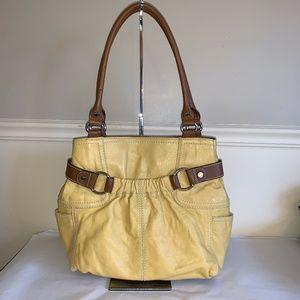 TIGNANELLO Warm Yellow Shopper Tote Bag Mint